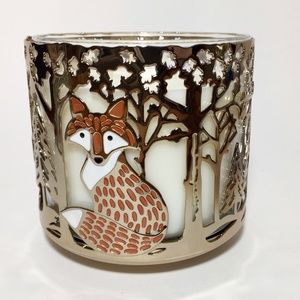 WOODLAND CRITTERS 3 Wick Candle Holder